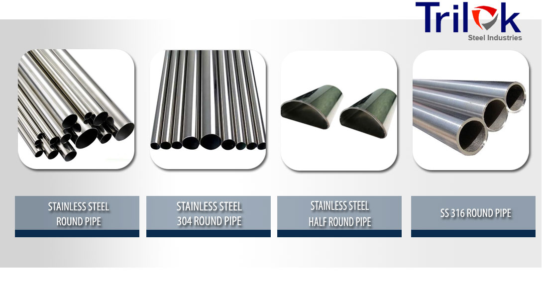 Stainless Steel Round Pipe Suppliers, SS 304 & 316 Welded Round Pipe